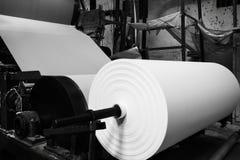 造纸厂机器 免版税库存照片