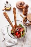 黄瓜新鲜的莴苣混合沙拉蕃茄蔬菜 库存图片