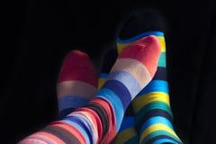 Πόδια ζευγών βαλεντίνων που απομονώνονται Στοκ Φωτογραφία