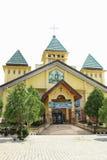 教会在曼诺瓦里 库存照片