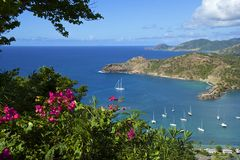 Высоты Ширли в Антигуе, карибской Стоковые Изображения RF