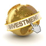 Σφαιρική έννοια επένδυσης, περιοχή της Ευρώπης, τρισδιάστατη Στοκ Φωτογραφίες