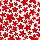 безшовное картины цветков красное Стоковые Изображения