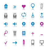 установленные иконы всеобщими Стоковая Фотография