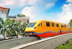 Современный поезд в движении Стоковая Фотография RF