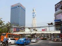城市街道在曼谷 免版税库存照片
