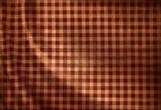 红色野餐布料 免版税库存图片