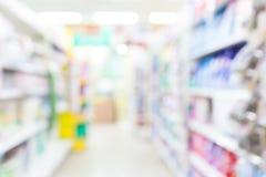 超级市场迷离背景 免版税库存照片