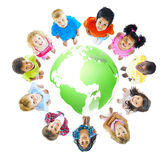 绿色世界哄骗快乐的概念 免版税库存照片
