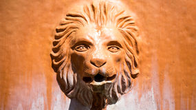 狮子顶头喷泉 免版税库存照片