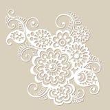 Элемент цветочного узора вектора, индийский орнамент Стоковые Фотографии RF