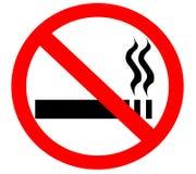 香烟没有符号抽烟的符号 免版税库存照片
