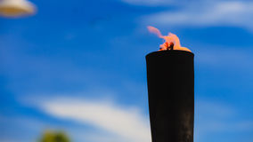 Движение пламени огня Стоковое фото RF