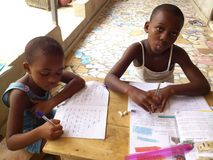 教育在非洲 免版税库存图片