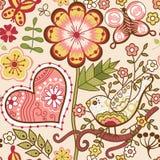 与花的花卉无缝的样式 免版税图库摄影