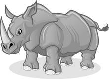 Высококачественная иллюстрация шаржа вектора носорога Стоковые Изображения RF