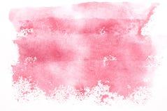 розовая акварель Стоковая Фотография