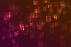 Τα θολωμένα σημάδια δώρων το υπόβαθρο Στοκ φωτογραφίες με δικαίωμα ελεύθερης χρήσης