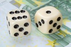 欧洲系数市场风险 免版税库存照片