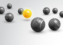 Предпосылка серых шариков технологии абстрактная Стоковые Изображения