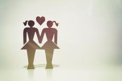 同性恋夫妇,小雕象,同性婚姻 库存图片