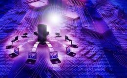 ευρύς κόσμος Ιστού τεχνολογίας πληροφοριών έννοιας Στοκ Εικόνα
