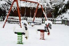 Ταλάντευση το χειμώνα Στοκ Φωτογραφίες