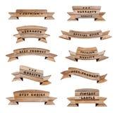 Διανυσματικά ξύλινα σημάδια Στοκ Εικόνα