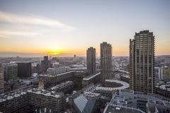 Виды на город Лондона над барбаканом Стоковые Изображения