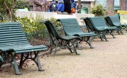 κοινό κήπων πάγκων Στοκ Φωτογραφίες