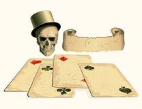 κάρτες που τίθενται Στοκ Εικόνες