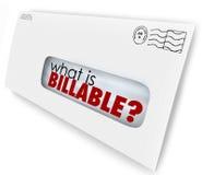 什么是可收款的词信封发货票邮递费 免版税库存图片