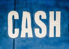 脏的现金标志 免版税库存照片