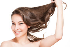 严格的健康头发 库存照片