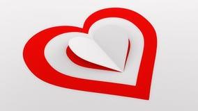 Бумажная иллюстрация сердца Стоковые Фото