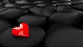 лоснистый красный цвет сердца Стоковые Изображения RF