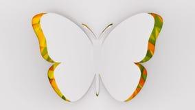 Бумажная иллюстрация бабочки Стоковое Фото