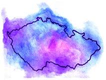 捷克传染媒介地图例证 图库摄影