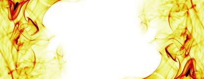 Абстрактный огонь пылает рамка Стоковые Изображения
