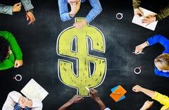黑板激发灵感合作会议战略概念 免版税库存照片