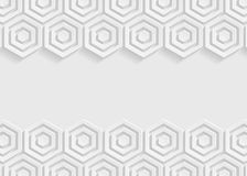 白色六角形纸摘要背景 库存图片