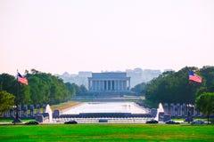 亚伯拉罕・林肯纪念日落华盛顿特区 免版税库存图片