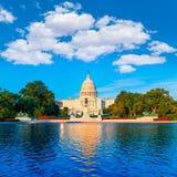 建立华盛顿特区美国国会的国会大厦 免版税库存图片
