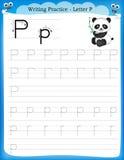 Γράψιμο του γράμματος Π πρακτικής Στοκ φωτογραφία με δικαίωμα ελεύθερης χρήσης