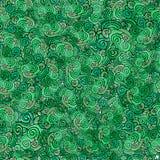 Безшовная предпосылка клевера зеленого цвета вектора картины Стоковое Фото