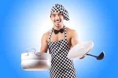 性感的男性厨师 免版税图库摄影