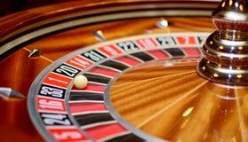 在轮盘赌的赌轮的第一 免版税库存图片