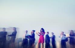 Бизнесмены концепции встречи Нью-Йорка внешней Стоковое Изображение
