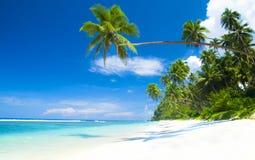 热带海滩目的地假期夏天休闲概念 免版税图库摄影
