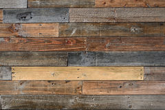 被构造的老葡萄酒木头 库存图片